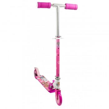 Розова сгъваема тротинетка с 2 колела, Пес Патрул, Скай