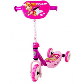 Детска тротинетка с 3 гуми розова - Пес патрул