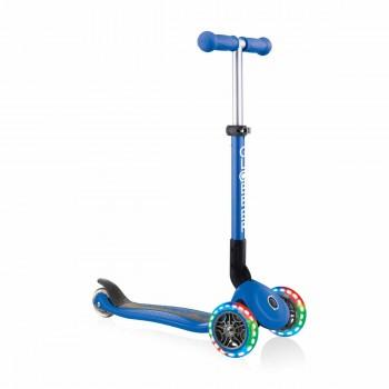 Сгъваема тротинетка със светещи колела, Globber Junior - 2+ г., синя