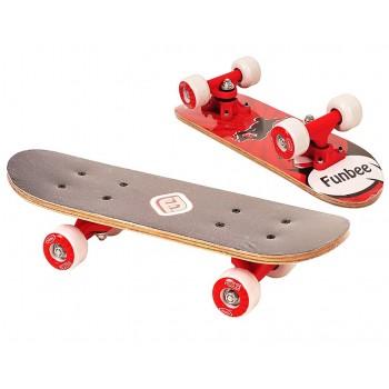 Детски мини скейтборд, FUNBEE - червен
