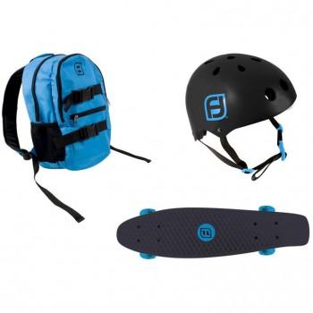 Комплект раница + каска + скейтборд, Funbee