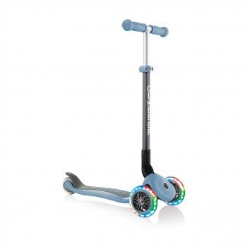 Сгъваема тротинетка със светещи гуми Globber Primo Foldable Lights, Пастелно синя