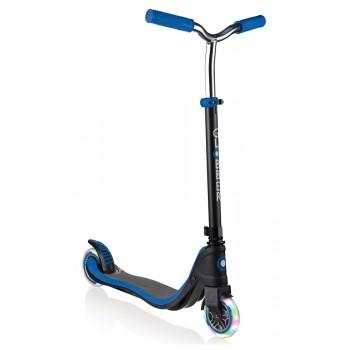 Тротинетка Flow 125 Light с нова T-образна кормилна рамка - Синя, светещи колела