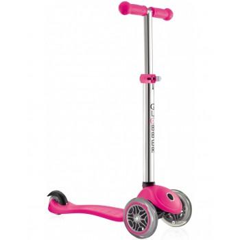 Тротинетка Primo Neon Pink за деца с регулируема височина - Неоново розова