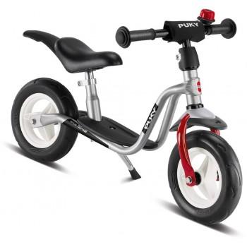 Детско колело без педали със степенка и звънец PUKY LR M PLUS - сребристо и червено