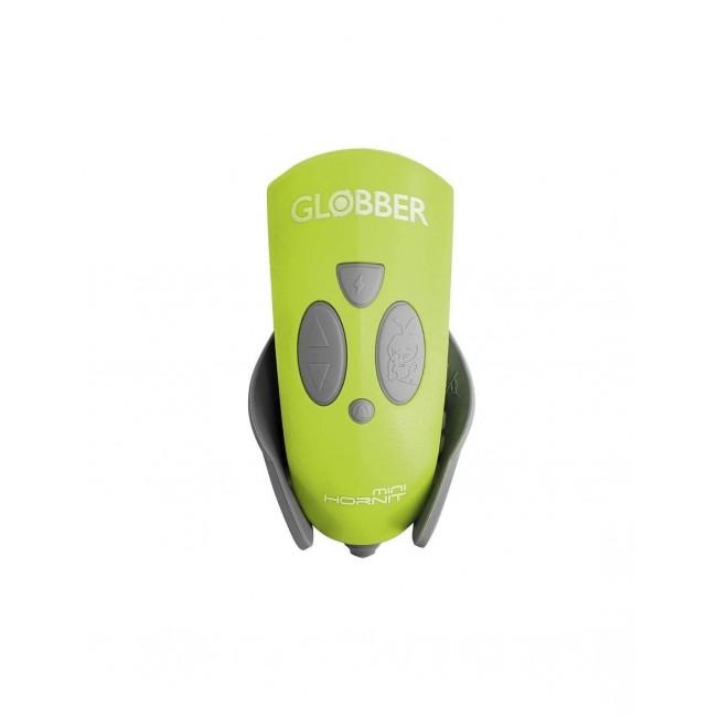 Клаксон - тромба за тротинетка или велосипед с LED фар, електронен, Зелен