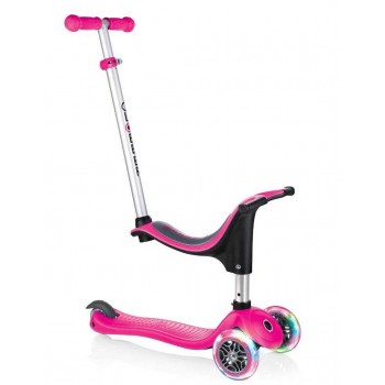 Тротинетка - триколка EVO 4 в 1 Light за деца със светещи колела- Розова