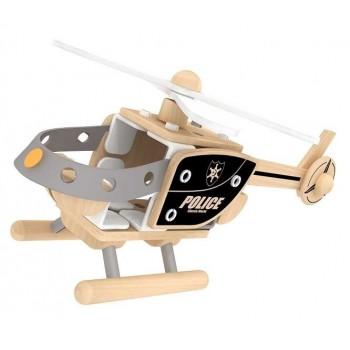 Дървен конструктор - полицейски хеликоптер