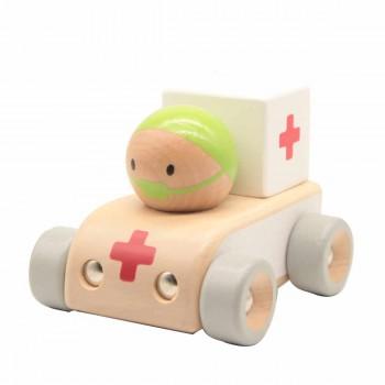 Детска дървена количка - Линейка