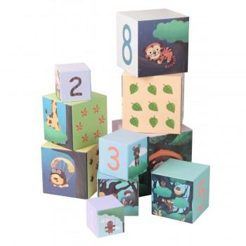 Картонени кубчета за редене - горски рисунки