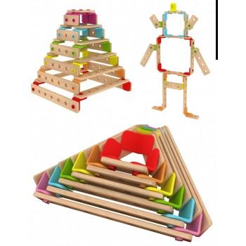 Детски дървен конструктор за игра - Дъга