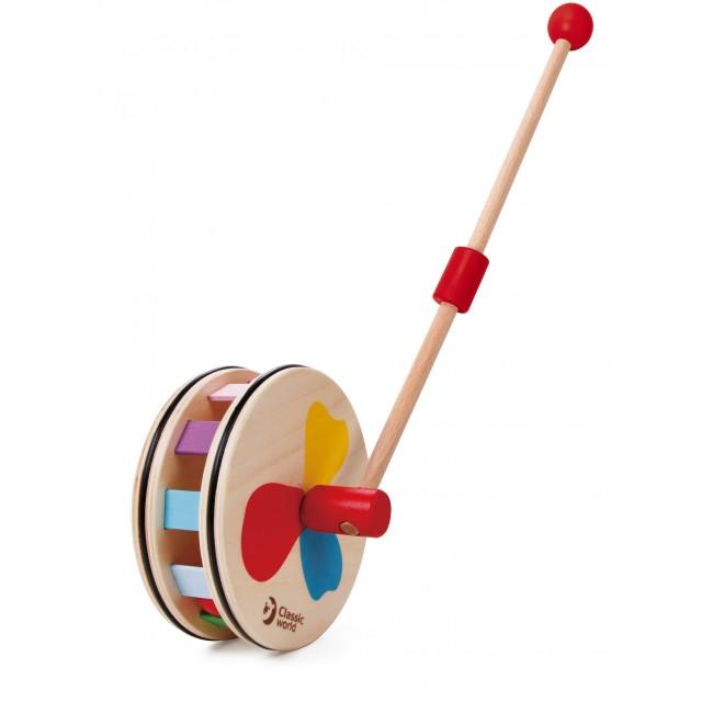 Дървена играчка за бутане Дъга