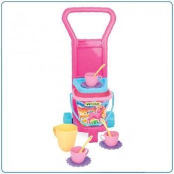 Детска играчка - комплект за пикник, розов