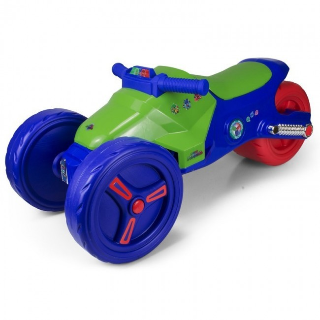 Детски мотор PJ Masks синьо зелен