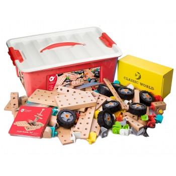 Дървен конструктор за деца - 218 части