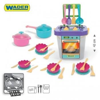 Детска готварска печка с аксесоари - 31 елемента