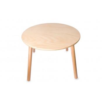 Детска кръгла дървена маса