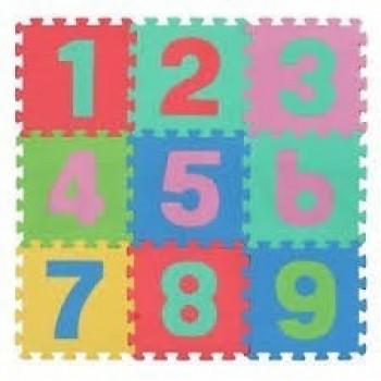Детски образователен пъзел килим с цифри от 1 до 9