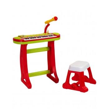 Музикален комплект - Пиано с микрофон и столче