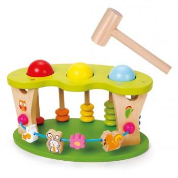 Дървена детска играчка за координация и точност