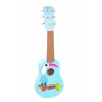 Дървена детска китара
