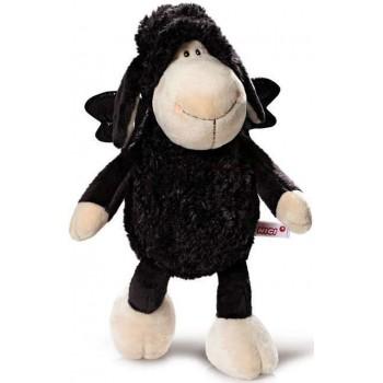 Плюшена играчка овцата Jolly - Dont worry be happy- Черна 20 см.