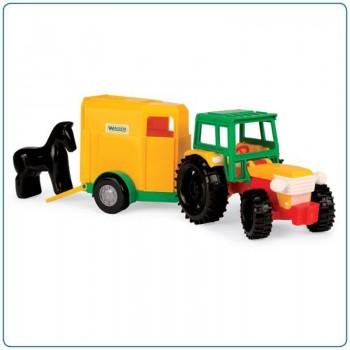 Играчка трактор с ремарке и конче