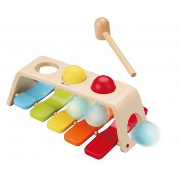 Дървена играчка- ксилофон с чукче