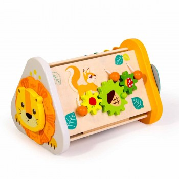 Дървена играчка - Сортер за най-малките, Джунгла