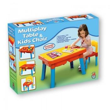 Детска пластмасова маса със стол, Unico