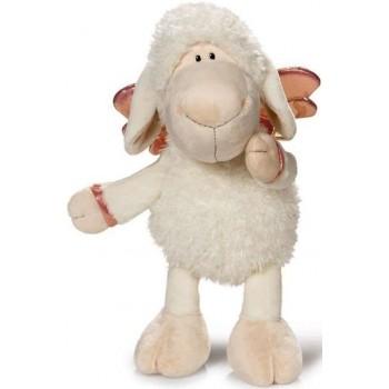 Плюшена играчка овцата Jolly - Don't worry be happy - Бяла 35 см