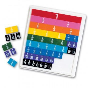 Научи дробите лесно с цветни плочки