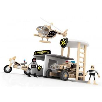 Дървен конструктор - полицейски участък