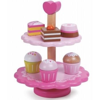 Дървена играчка за деца - поставка за сладкиши