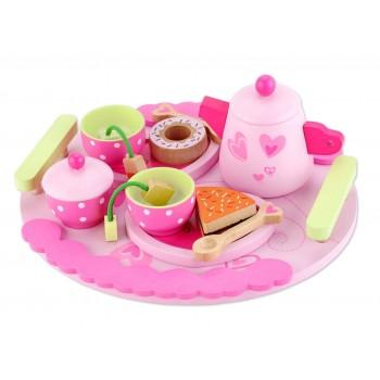 Детскa дървенa играчка - комплект за чай