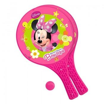 Комплект от две ракети и топче за игра навън - Minnie