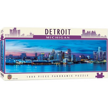 Панорамен пъзел Master Pieces от 1000 части - Детройт, Мичиган