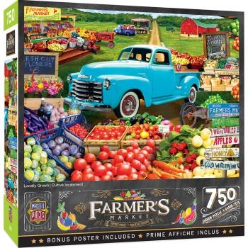 Пъзел Master Pieces от 750 части - Пазар за плодове и зеленчуци