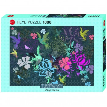 Пъзел Heye от 1000 части - Птици и цветя, Търновски