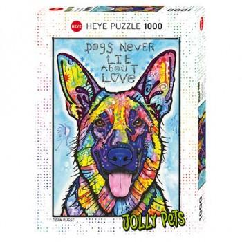 Пъзел Heye от 1000 части - Кучетата никога не лъжат, Дийн Русо