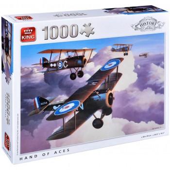 Пъзел King от 1000 части - Военни самолети, Айвън Бериман