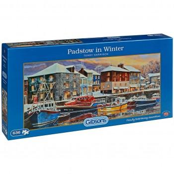 Панорамен пъзел Gibsons от 636 части – Зимно пристанище, Тери Харисън
