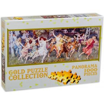 Панорамен пъзел Gold Puzzle от 1000 части - Ден в гората