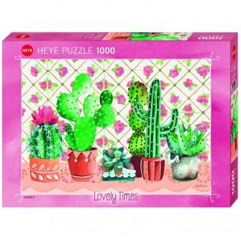 Пъзел Heye от 1000 части - Семейство кактуси, Габила