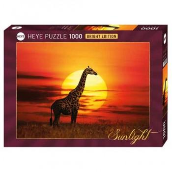 Пъзел Heye от 1000 части - Слънчев жираф, Слънчева светлина