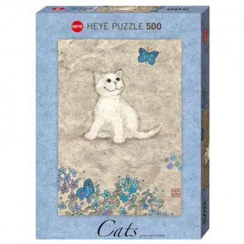 Пъзел Heye от 500 части - Бяло котенце, Джейн Краутър