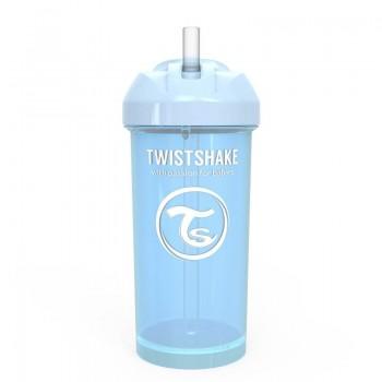 Чаша със сламка Twistshake - 360 ml 12+ месеца синя