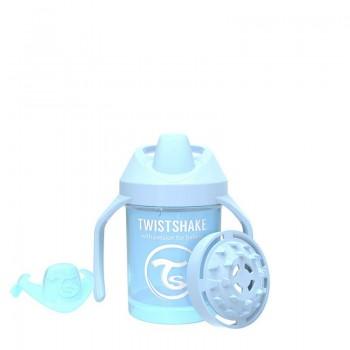 Мини чаша с шейкър Twistshake 230 мл 4+ месеца синя