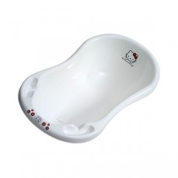 Бебешка вана за къпане с тапа Hello Kitty бяла