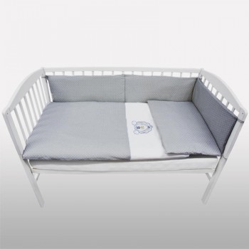 Бебешки спален комплект от 3 части - лъвче бял